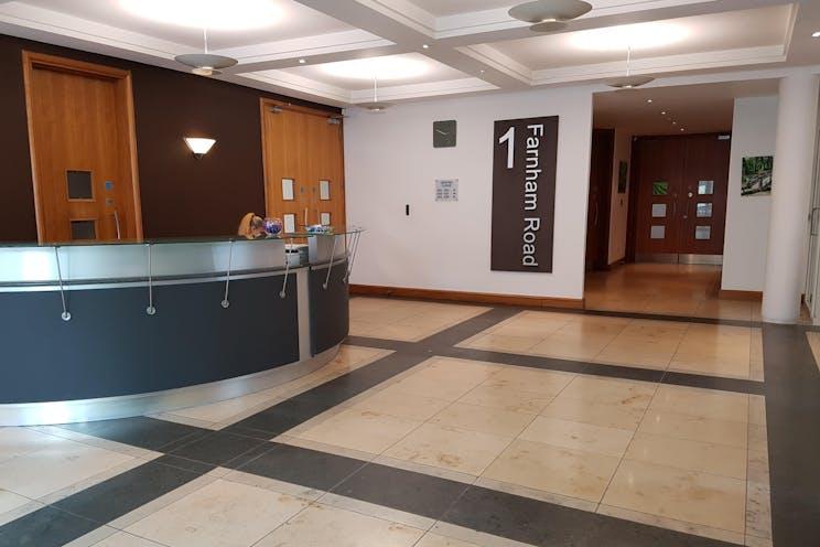 Suite G18 - 1 Farnham Road, Guildford, Offices To Let - 1 farnham road recep.jpg