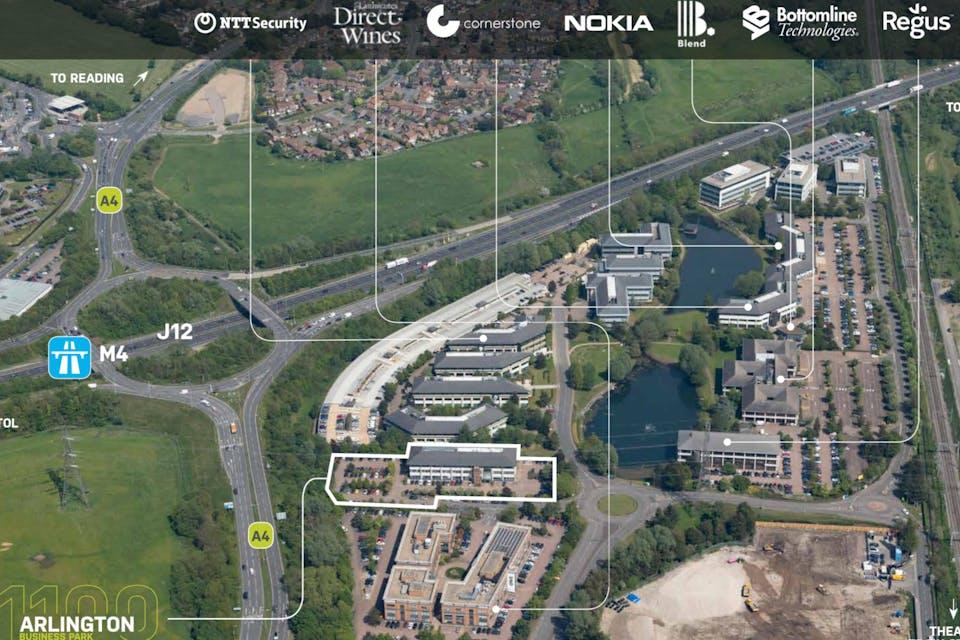 1100 Arlington Business Park, Theale, Development Potential For Sale - 1100 Flyover.jpg