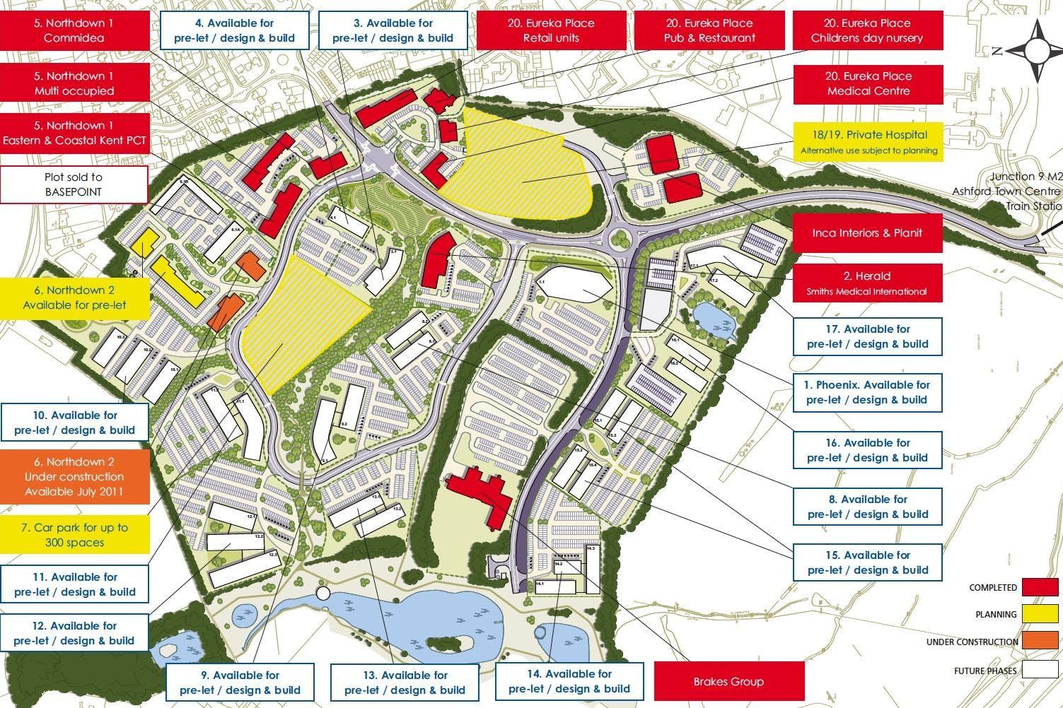 Development Plots - Eureka Business Park, Trinity Road, Ashford, Office / Development To Let / For Sale - Master Plan.jpg
