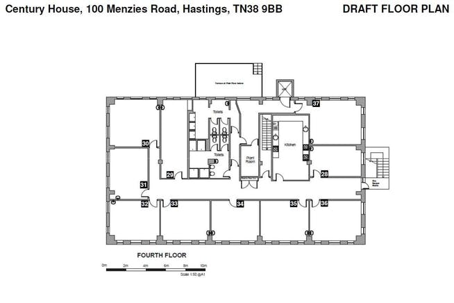 Century House, Hastings, Office To Let - 4th Fl plan.JPG