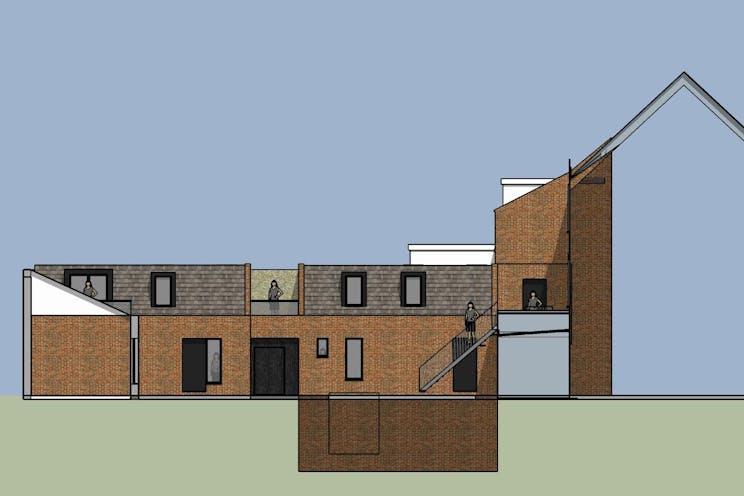 234-236 High Street, Dorking, Retail, Development (Land & Buildings) For Sale - New Appn Rear Courtyard View 3.jpg