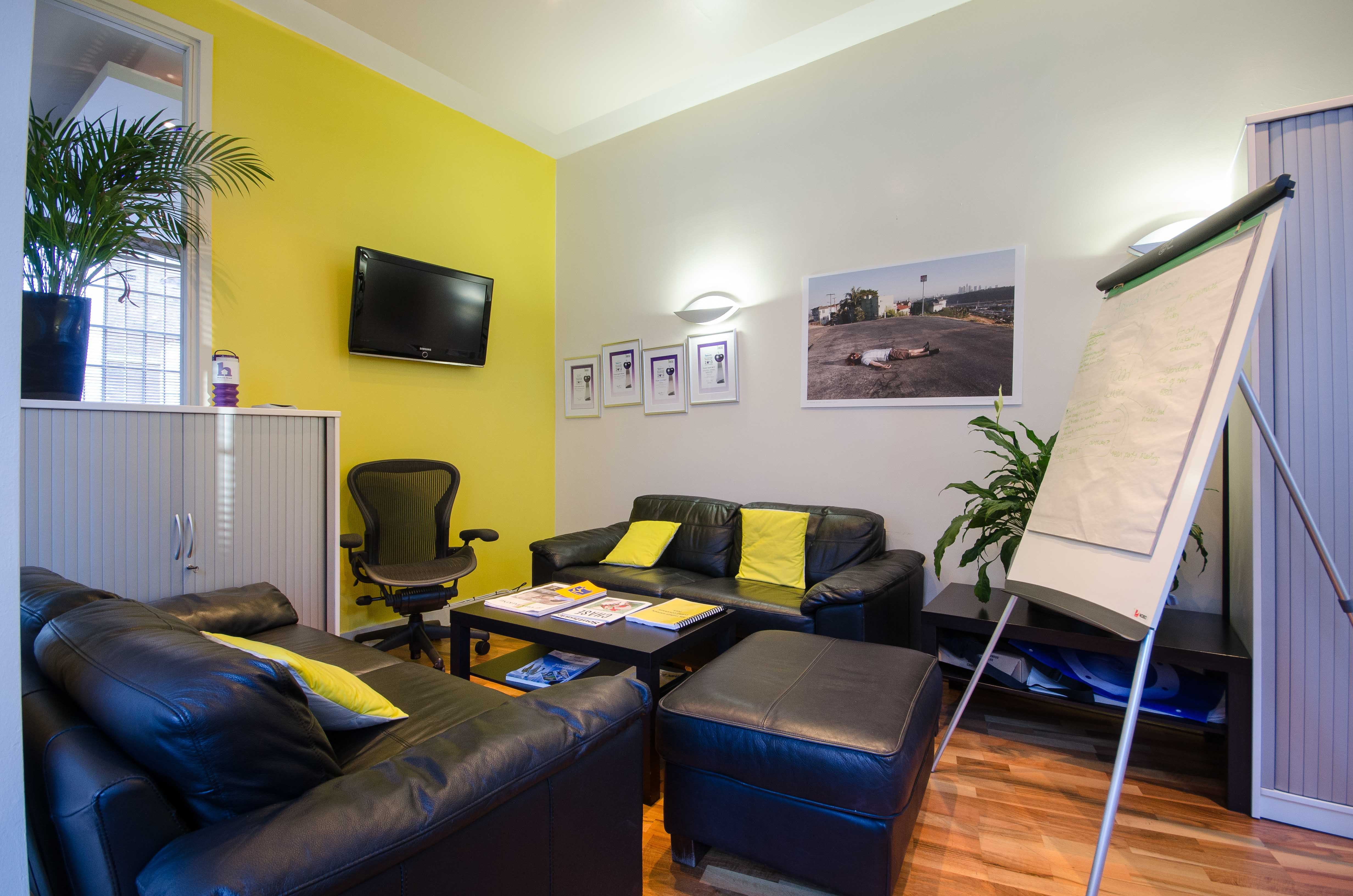 Brooklyn Works, Sheffield, Offices To Let - internal sofa area 2