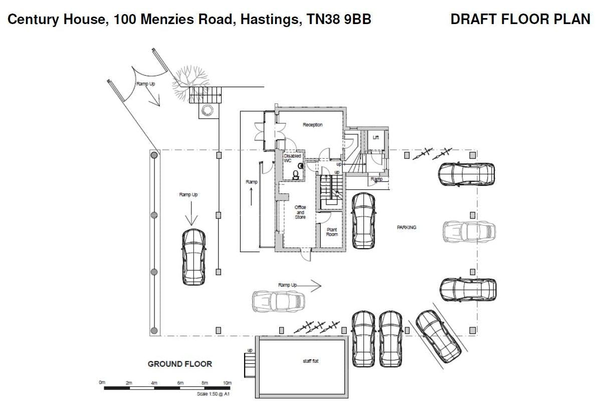 Century House, Hastings, Office To Let - Gd Fl plan.JPG