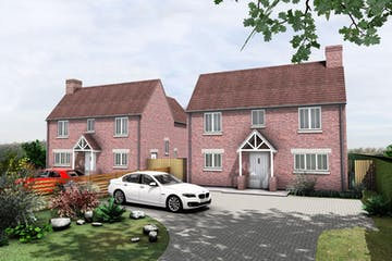 Building Plots, Roundhill Cottages Kimblewick Road, Little Kimble, Residential For Sale - 1924 Little Kimble - 3D Front View - 200923.jpg