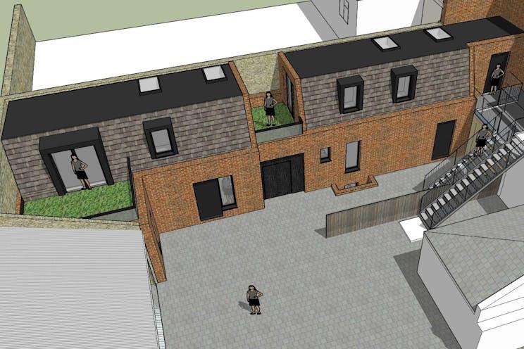 234-236 High Street, Dorking, Retail, Development (Land & Buildings) For Sale - New Appn Rear Courtyard View 5.jpg
