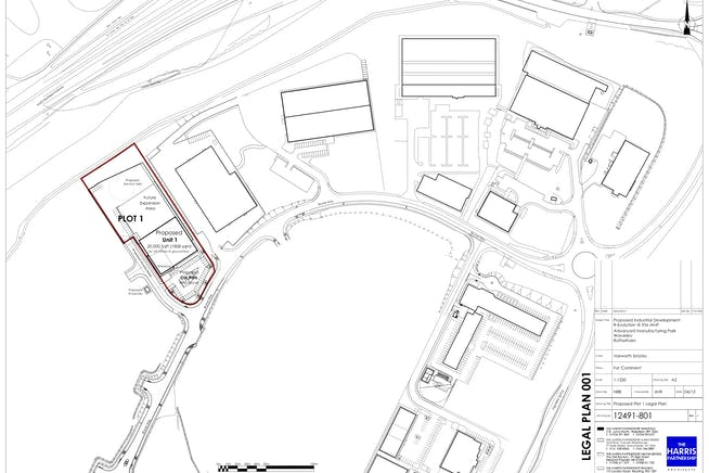 Plot 1 - R-Evolution @ The AMP, Brunel Way, Rotherham, Industrial For Sale - 12491801 Proposed Plot 1 Legal Plan.jpg