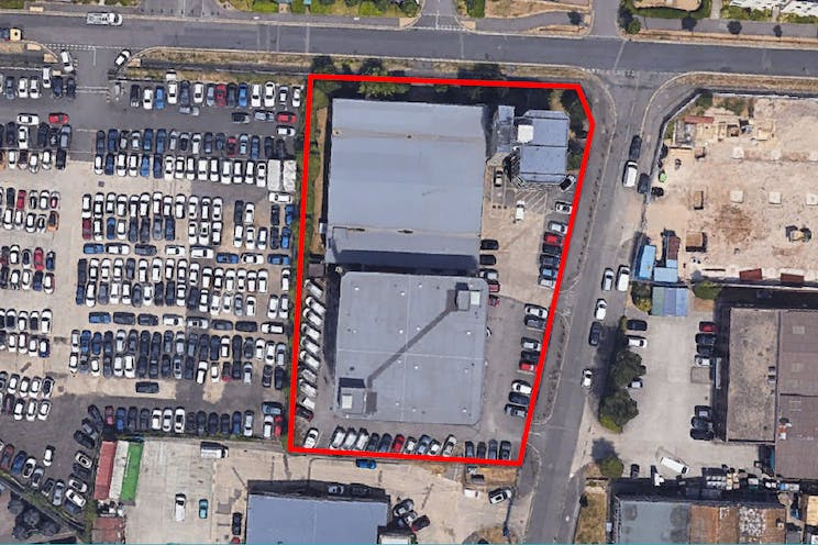 2-4 Darwin Close, Reading, Industrial / Development / Open Storage / Land For Sale - Annotated Aerial.jpg