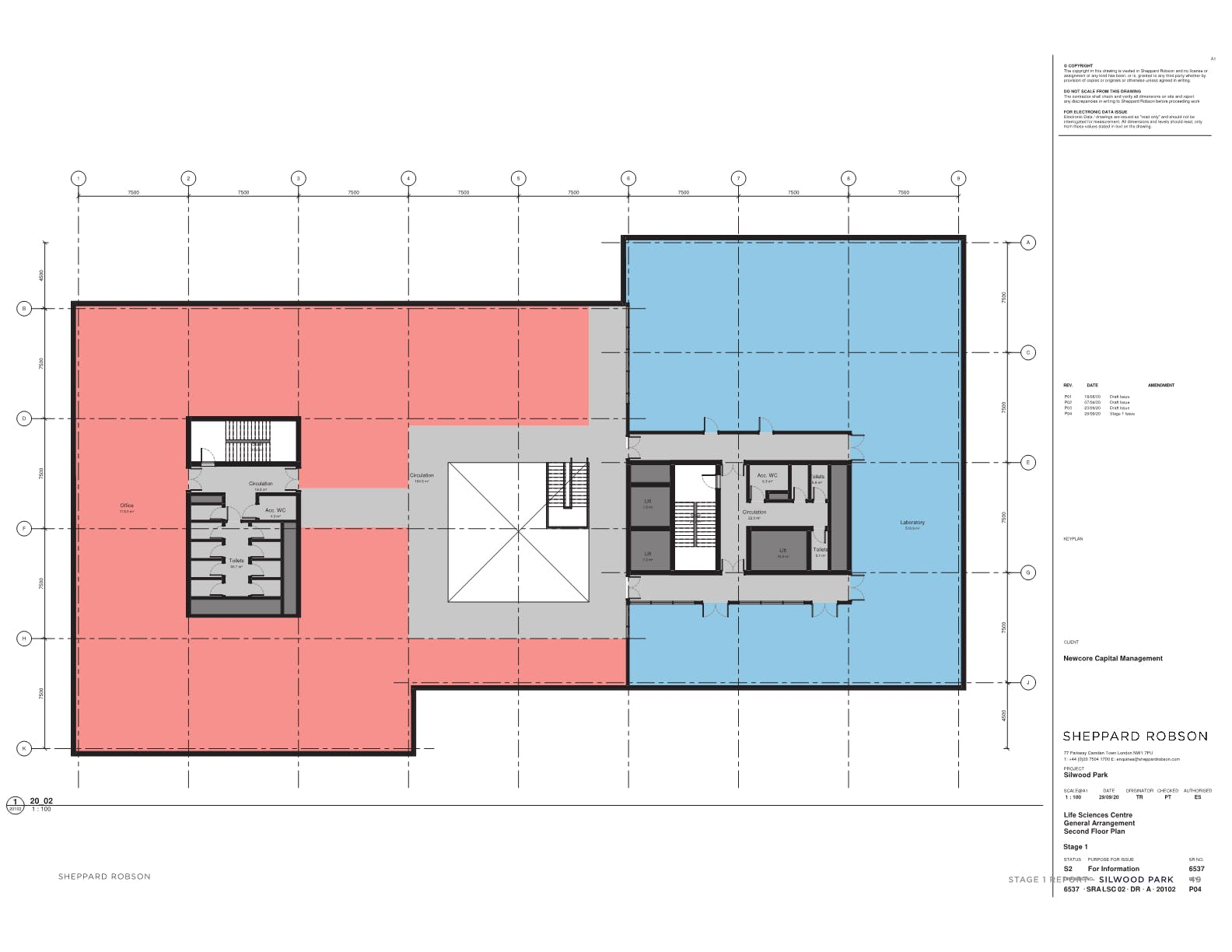 New HQ Building, Silwood Science Park, Ascot, Offices To Let - Second floor plan main building1.png