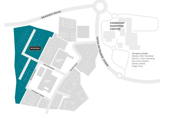 Units 8 & 9, Bilton Road, Basingstoke, Warehouse & Industrial To Let - Units 8  9 Bilton Road Front Map.PNG