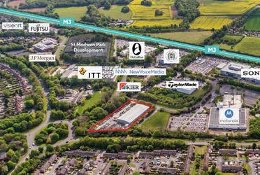 Former Meggitt Unit, Laurels, Basingstoke, Industrial To Let - Aerial Image  Red lined.png - More details and enquiries about this property