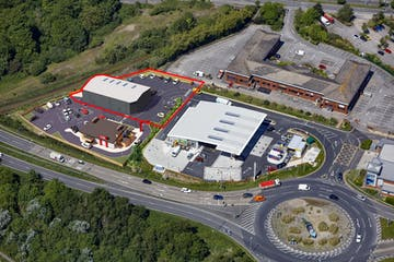 Phase 2 Marshes End, Safety Drive Creekmoor, Poole, Industrial & Trade / Industrial & Trade / Retail & Leisure / Industrial & Trade To Let - Aerial V1 red line.jpg