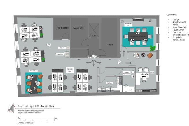 12 Berkeley Street, Mayfair, London, Office To Let - Indicative Floor PLan  - 12 Berkeley Street Mayfair.PNG