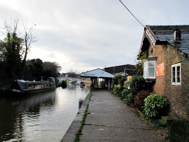 Dry Dock, Buildings And Moorings - Middlewich Top Wharf, Middlewich