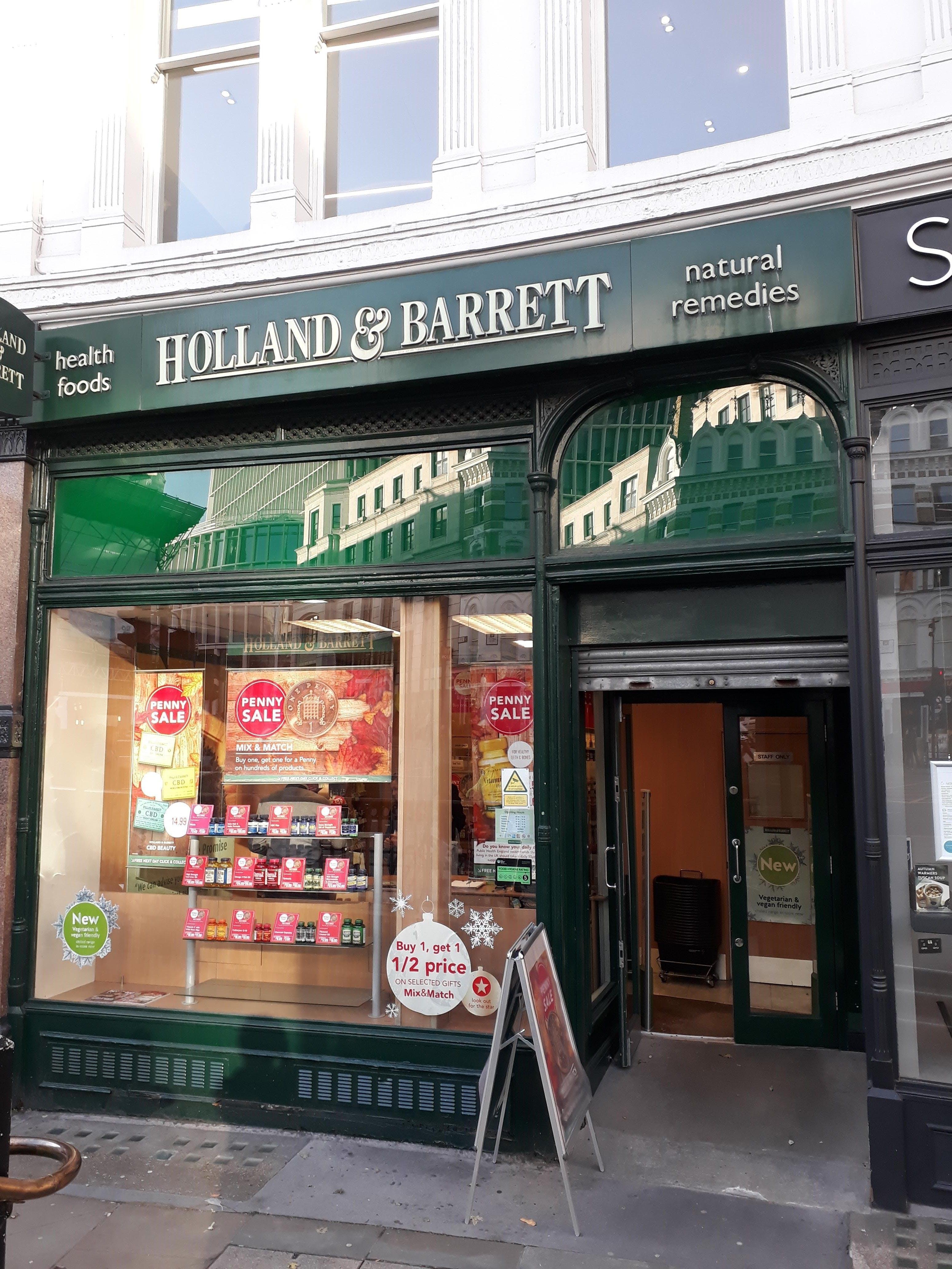 Ground Floor & Basement, London, Retail To Let - Holland & Barrett outside close-up 1.jpg