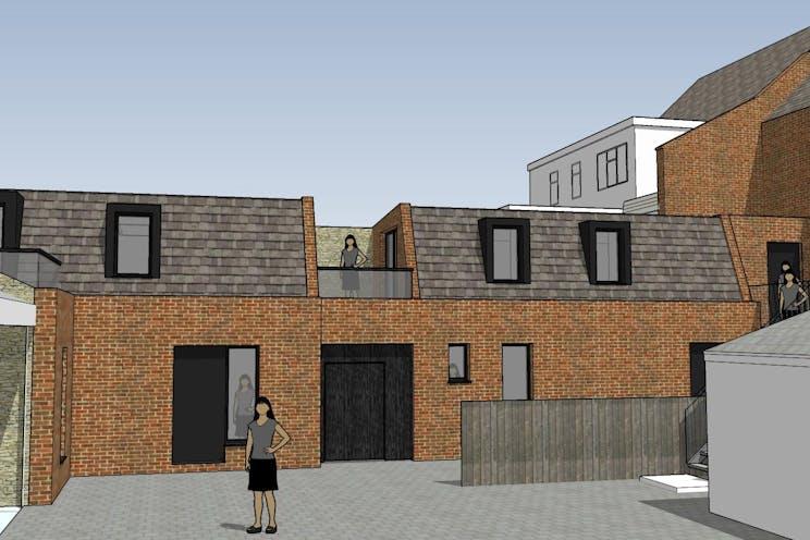 234-236 High Street, Dorking, Retail, Development (Land & Buildings) For Sale - New Appn Rear Courtyard View 1.jpg