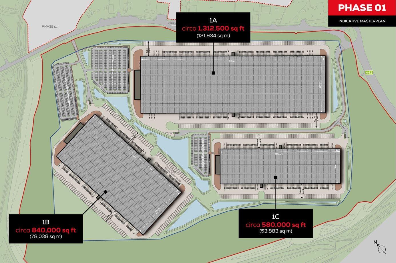 Midlands Logistics Park, Northamptonshire, Distribution Warehouse / Industrial (Multi Let Scheme) To Let - MLP Masterplan - PHASE 1.JPG