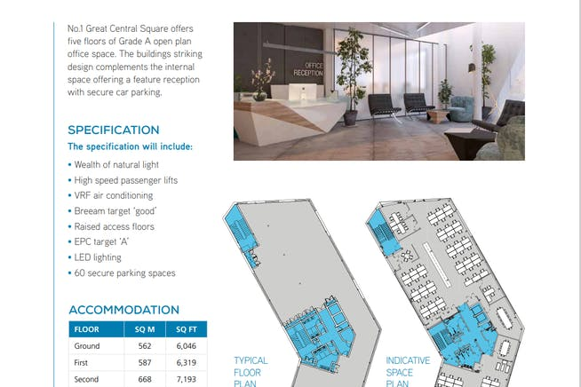 No1 Great Central Square, Medius House, Leicester, Office To Let - Building layout.PNG