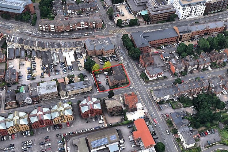 Trinity Hall, South Street, Reading, Development For Sale - Aerial photo of site and surrounding location