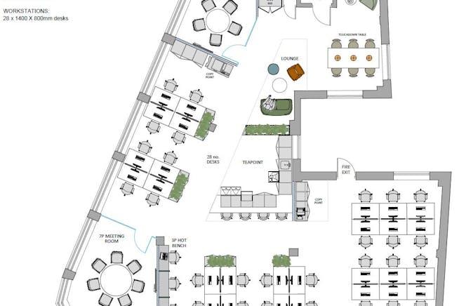 Barratt House, 341-349 Oxford Street, Mayfair, London, Office To Let - barrat_house_office_space_mayfair_2nd_floor_planjpg.JPG