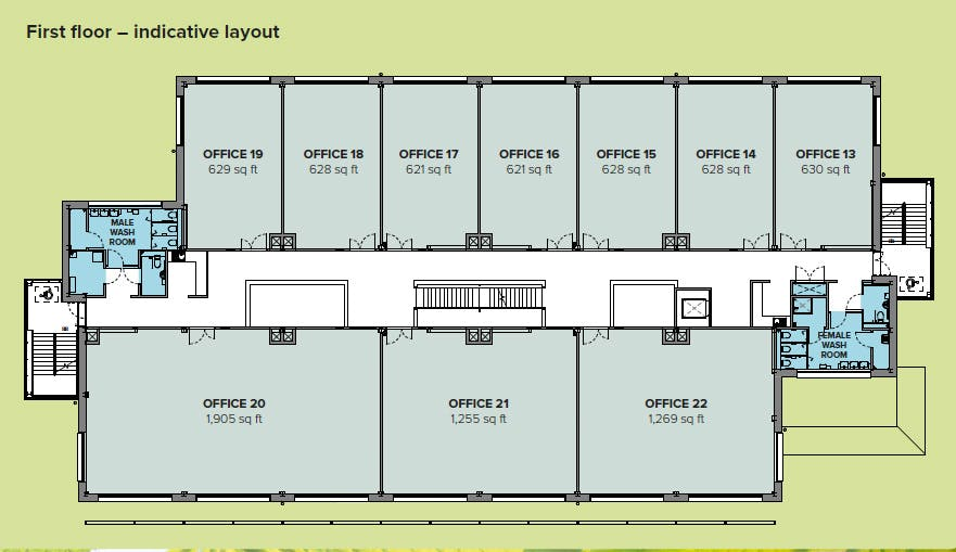 High Weald House, Bexhill Enterprise Park, Bexhill On Sea, Office To Let - 1st Fl Plan_edited.jpg