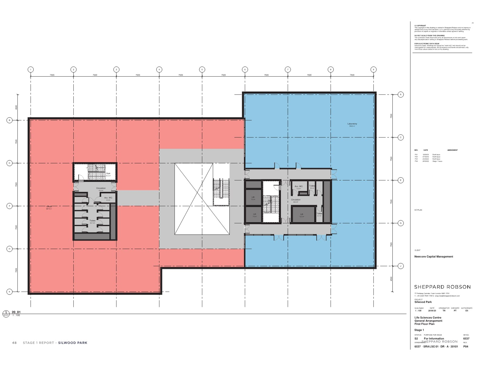 New HQ Building, Silwood Science Park, Ascot, Offices To Let - First floor plan main building1.png