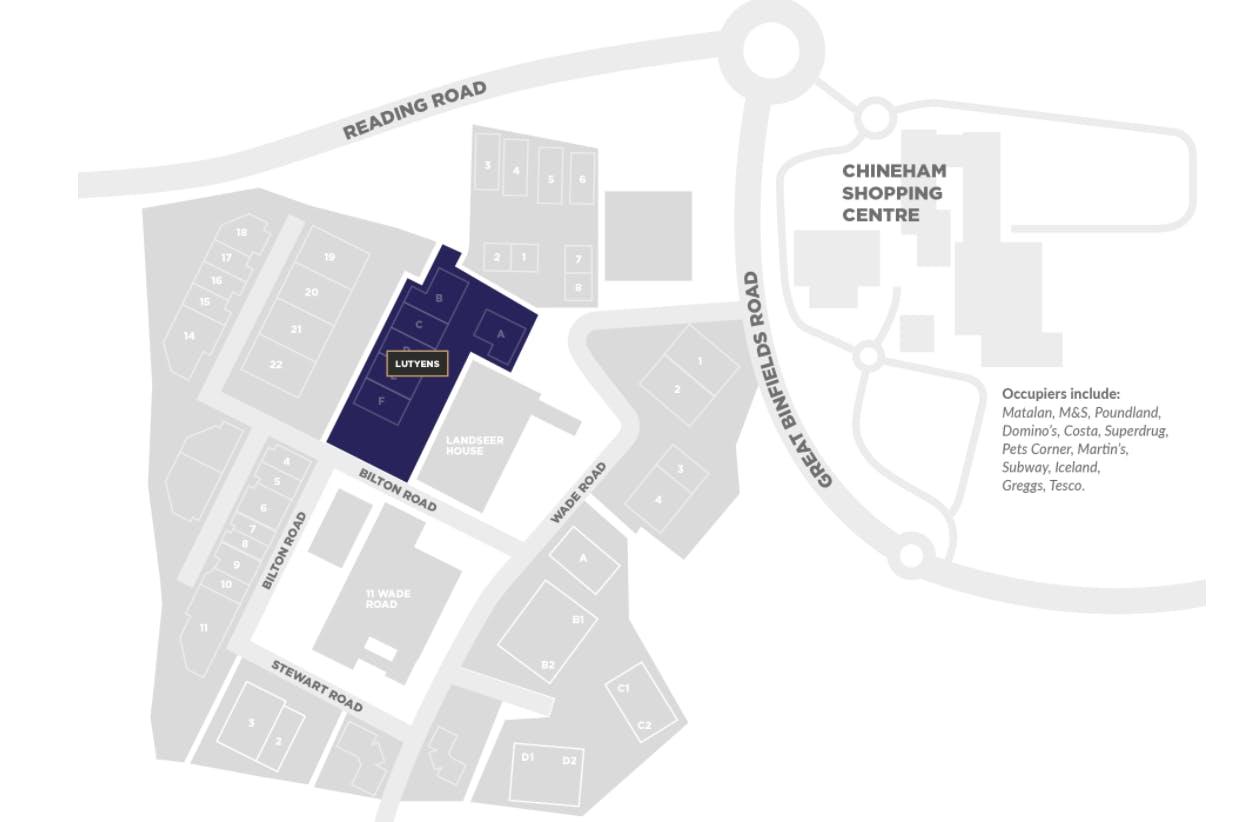 Unit D, Lutyens Industrial Centre, Basingstoke, Warehouse & Industrial To Let - Lutyens Map.PNG