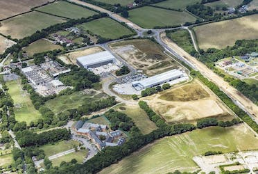 The Hub, Cuckfield Road, Burgess Hill, Industrial To Let / For Sale - Aerial with Roche.jpg - More details and enquiries about this property