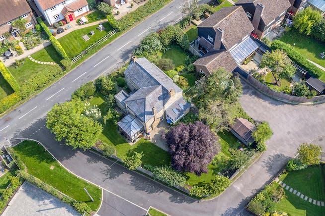 Vine Cottage The Vines, Shabbington, Residential For Sale - AERIAL REAR CNR.jpg
