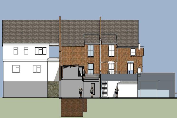 234-236 High Street, Dorking, Retail, Development (Land & Buildings) For Sale - New Appn Rear Courtyard View 4.jpg