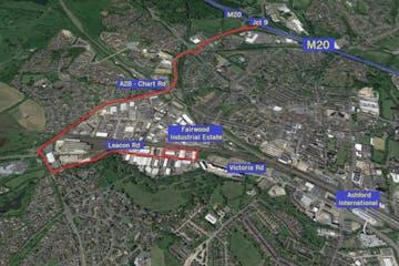Fairwood Industrial Estate, Leacon Road, Ashford, Warehouse / Industrial To Let - Aerial Whole - Copy.JPG