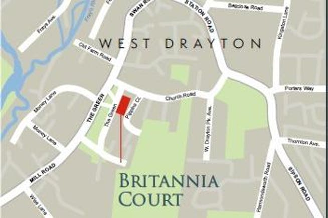 3 Britannia Court, The Green, West Drayton, Development / Residential / Office For Sale - Britannia Court West Drayton location plan.jpg