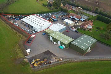 Ducks Nest Farm, Eversley Road, Reading, Industrial To Let - aerial red line 1.jpg