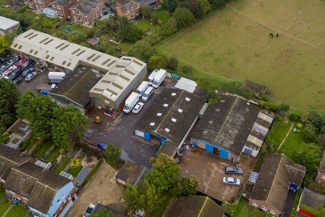 Townsend Garage Thame Road, Haddenham, Industrial For Sale - AERIAL 1.jpg