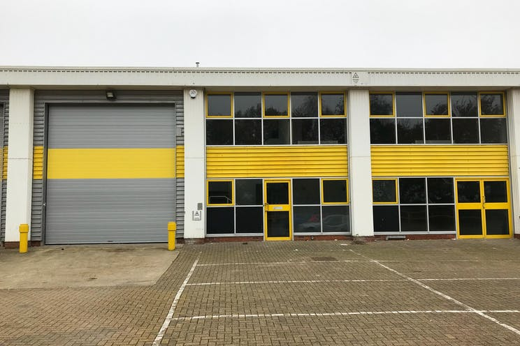 Unit 3 Springlakes Industrial Estate, Aldershot, Warehouse & Industrial To Let - Front Elevation 1