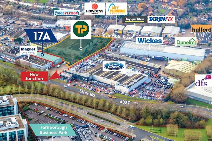 17a Invincible Road, Farnborough, Warehouse & Industrial / Retail To Let - aerial plan 17a.JPG