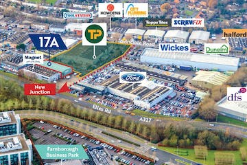 17a Invincible Road, Farnborough, Warehouse & Industrial / Retail To Let - aerial plan 17a.JPG