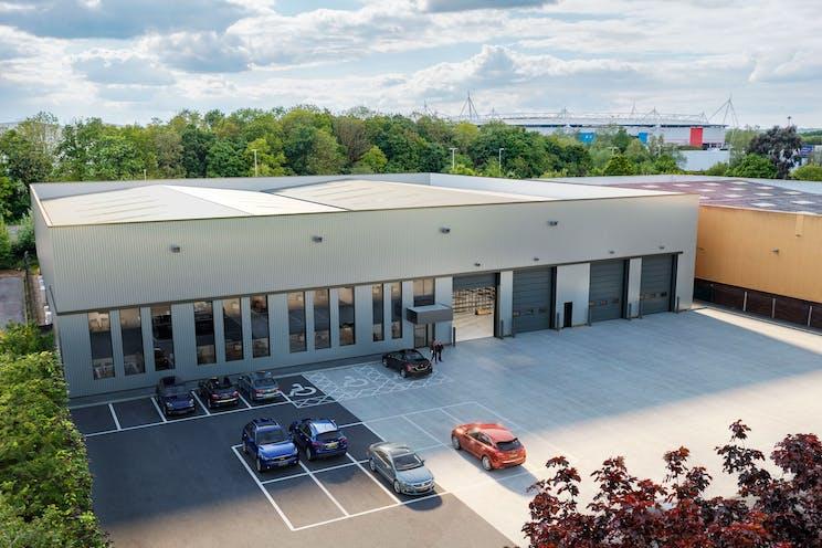 Unit 4 Worton Grange, Reading, Industrial To Let - CGI Refurbished Front Exterior