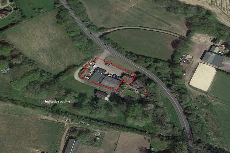 Kings Farm, Kingsfold, Retail / Land - Open Storage / Industrial For Sale - Outlined image.jpg