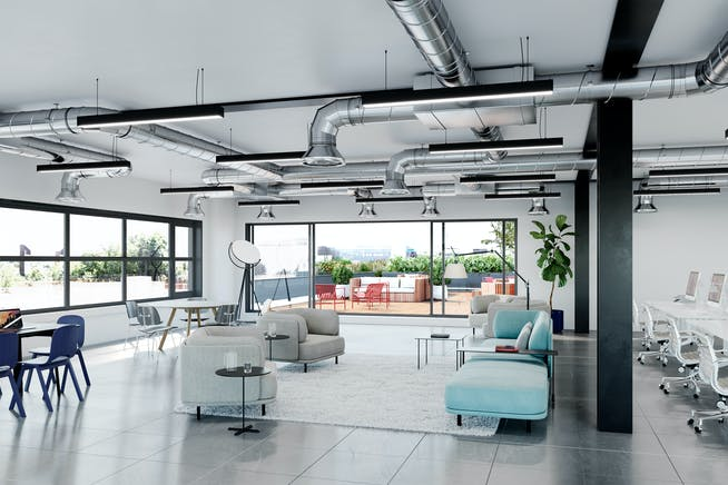 272 Gunnersbury Avenue, Chiswick, Chiswick, Offices To Let - Material Works_Chiswick Place_Terrace_Office_WEB.jpg