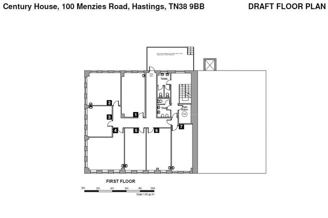 Century House, Hastings, Office To Let - 1st Fl plan.JPG