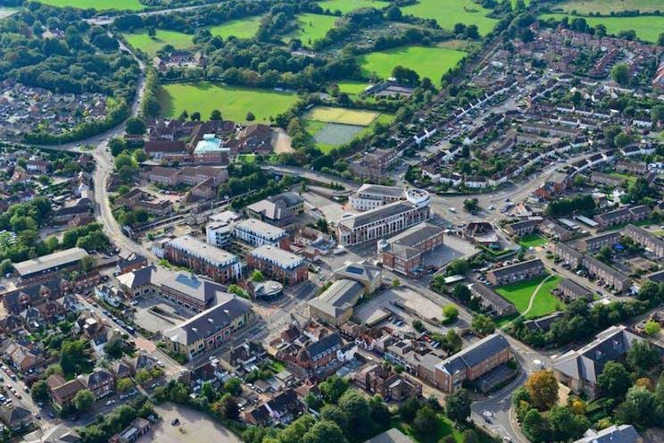 Culverdon House, Chertsey, Offices To Let - Culverdon.Aerial.JPG