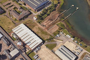 Haslar Gunboat Yard & Marina, Haslar Road, Gosport, Industrial / Land  / Development  / Storage For Sale - Gunboat Aerial.JPG
