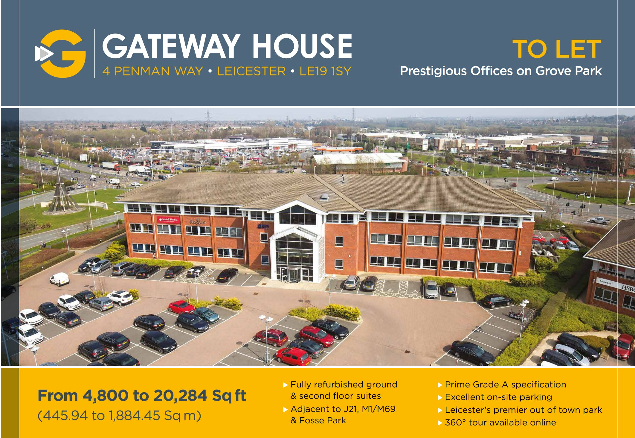 Gateway House, 4 Penman Way House, Leicester, Office To Let - Front of Building.PNG
