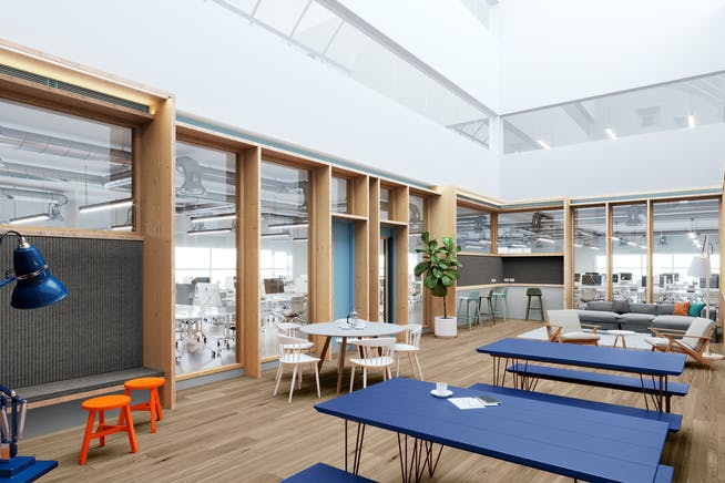 272 Gunnersbury Avenue, Chiswick, Chiswick, Offices To Let - Material Works_Chiswick Place_Atrium_WEB.jpg