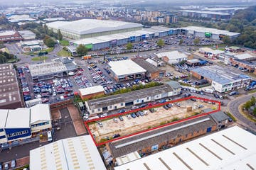 15 Boulton Road, Reading, Industrial / Open Storage / Land To Let / For Sale - aerial red line 1.jpg