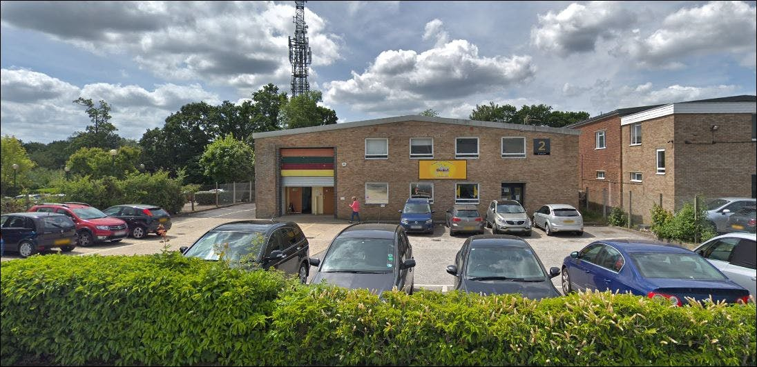 2 Stewart Road, Kingsland Business Park, Basingstoke, Industrial To Let - Image 4 car park front.JPG