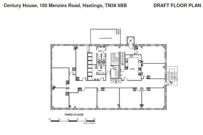 Century House, Hastings, Office To Let - 3rd Fl plan.JPG
